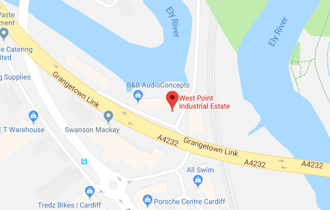 Google Map of West Point Industrial Estate Cardiff CF11 8JQ